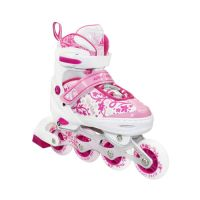 Раздвижные роликовые коньки BELL pink, размер 35-38