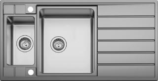 Мойка врезная кухонная Seaman Eco Roma SMR-9750B2 с клапаном автоматом