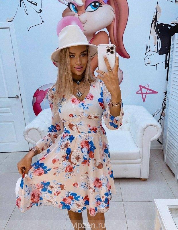 Легкое весенне шифоновое платье