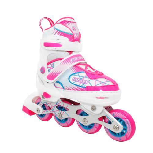 Раздвижные роликовые коньки Galaxy Pink, размер 35-38