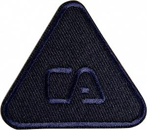 фото Термо-аппликация HKM Треугольник с символом 54 мм х 47 мм. Германия 38629_1