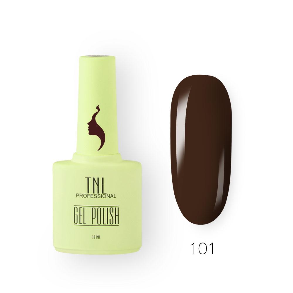 Гель-лак TNL 8 Чувств №101 - кофейный ликер (10 мл.)