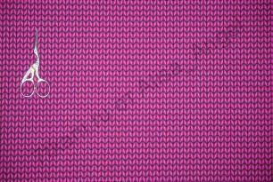 Вязанка светлая фуксия футер 2-х нитка отрез 1м