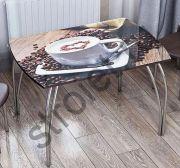 Стол Обеденный  стекло кофе