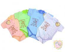 """Боди для новорожденных с коротким рукавом A-BD135-JTk (жатка) код товара 01422 """"Мамин Малыш"""" (цвет в ассортименте)"""