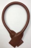 Ручка кожаная для сумок. Цвет: оранжево-коричневый, 54 см