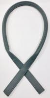 Ручка кожаная для сумок. Цвет: серый, 73 см