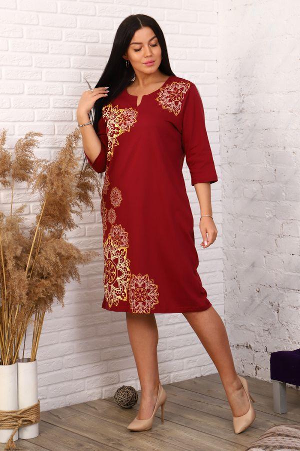 Платье 11570 [бордовый] р. 52 [распродажа]