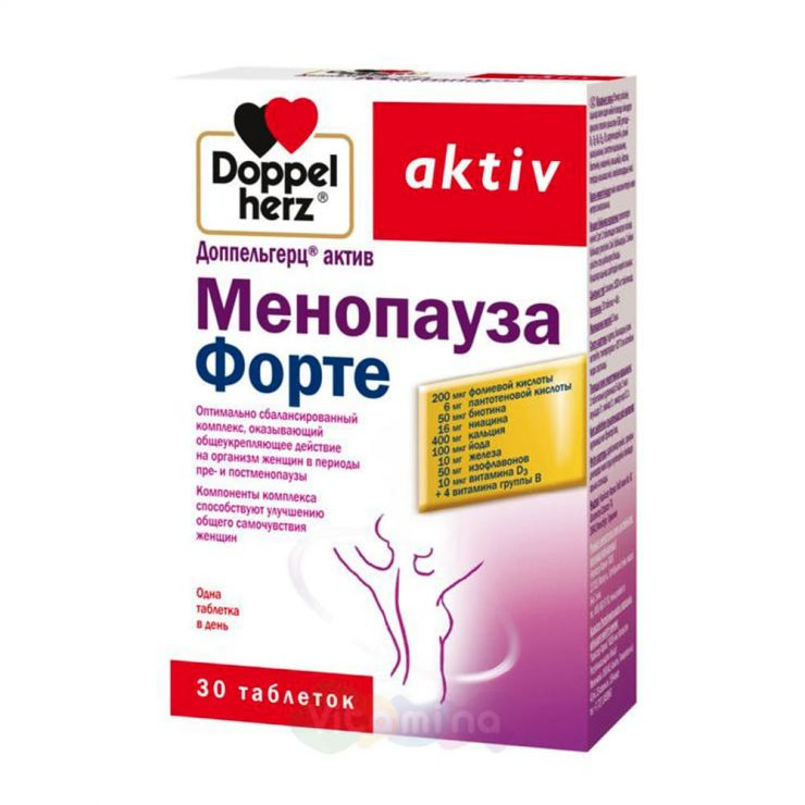 ДОППЕЛЬГЕРЦ АКТИВ МЕНОПАУЗА ФОРТЕ, 30 таблеток