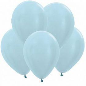 Шар (12''/30 см) Голубой, перламутр, 50 шт.