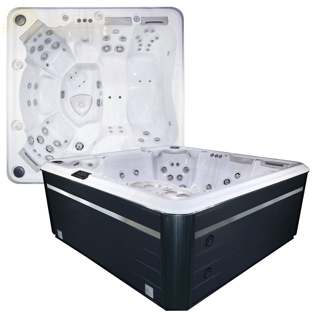 СПА бассейн Hydropool Self Cleaning 790 Platinum 60 форсунок 239х239 ФОТО