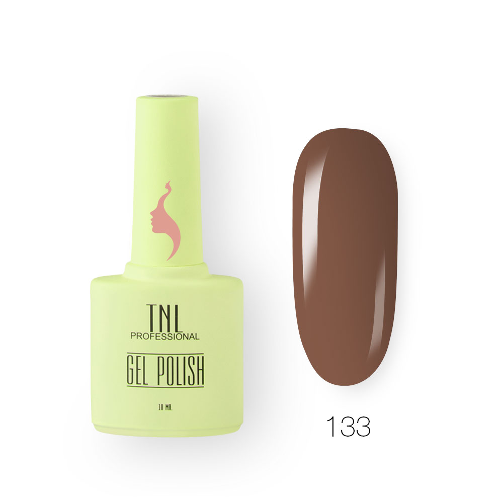 Гель-лак TNL 8 Чувств №133 - молочный шоколад (10 мл.)