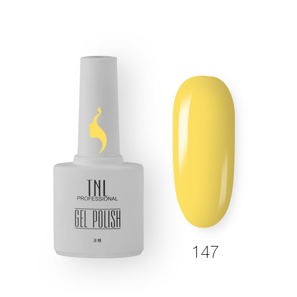 Гель-лак TNL 8 Чувств №147 - лимонный пломбир (10 мл.)