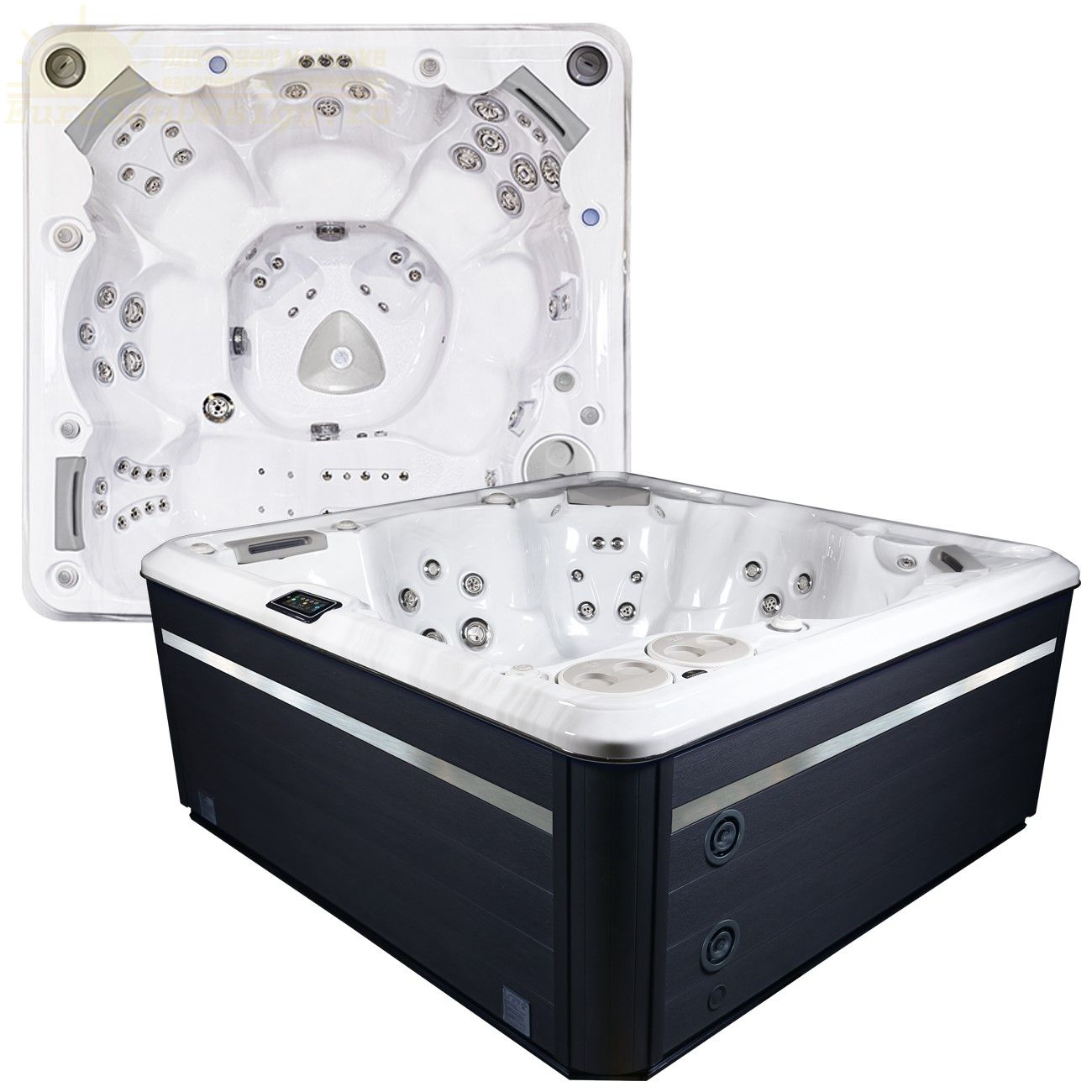 Семиместный СПА бассейн Hydropool Self Cleaning 770 Platinum 228х228 ФОТО