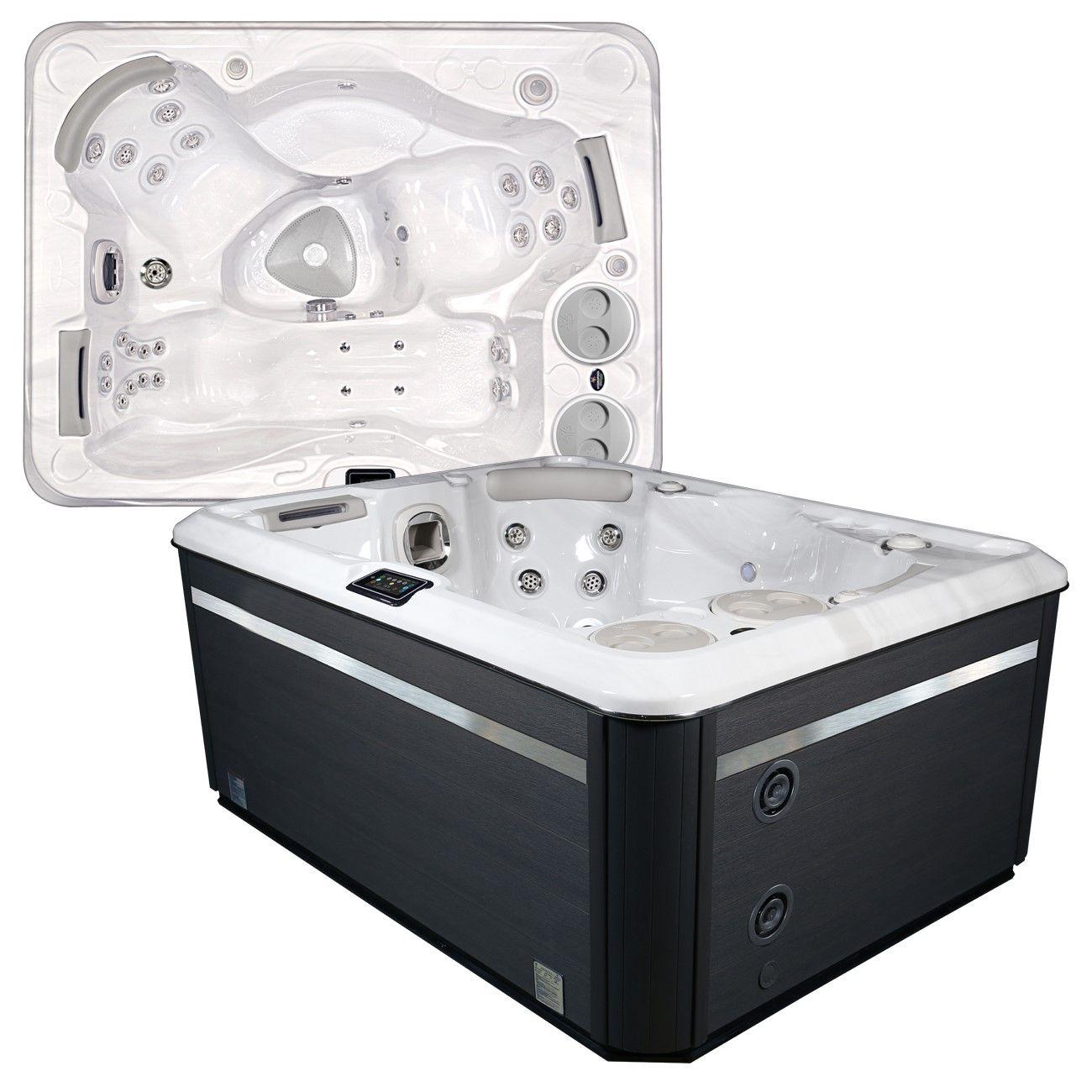 Мини СПА-бассейн с 30 форсунками Hydropool Self Cleaning 395 Gold 216х165 ФОТО