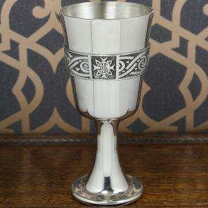 Средневековый кубок из пьютера  Кельтская Роза  Celtic Rose Goblet