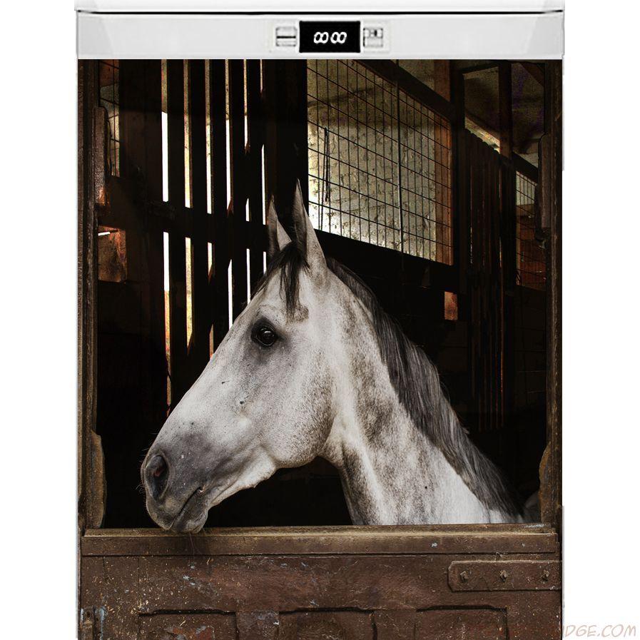 Наклейка на посудомоечную машину - Лошадь