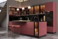 Кухня Onda розовая