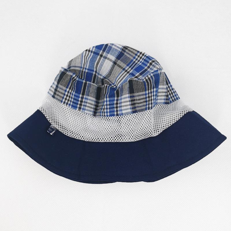 лм1069-58 Панама текстильная с сеткой темно-синяя