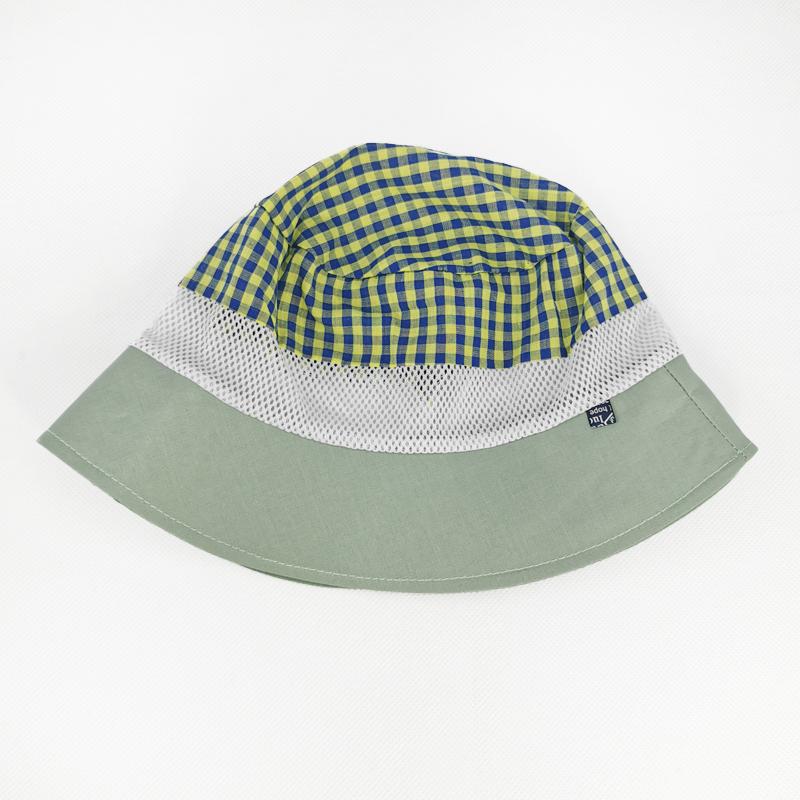лм1070-54 Панама текстильная с сеткой Клетка оливка