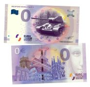 0 ЕВРО - Танк Т-34  (Weapons World War II). Памятная банкнота