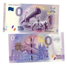 0 ЕВРО - Северный поток 2 (Nord Stream 2). Памятная банкнота