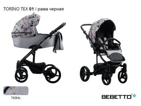 Коляска 3 в 1 Bebetto Torino TEX
