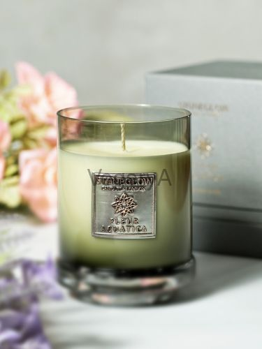 Свеча 300гр Водяной цветок StoneGlow Металлическая