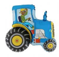 """Фольгированный шар 29"""" фигура """"Синий трактор"""""""