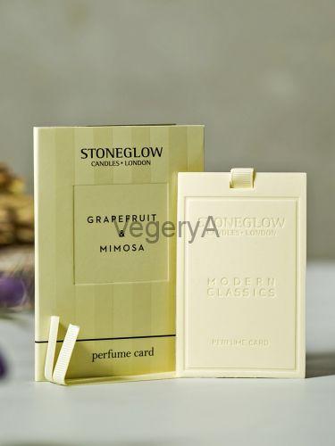 Ароматная карточка (визитка) Грейпфрут и Мимоза Stoneglow Современная Классика