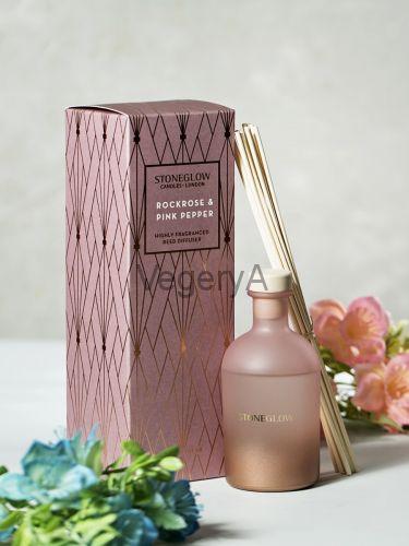 Диффузор Горная Роза и Розовый перец 200мл StoneGlow Геометрия