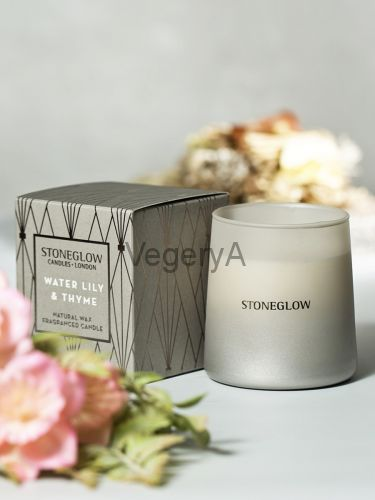 Свеча Водная лилия и Тимьян 200гр StoneGlow Геометрия