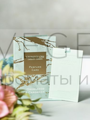 Ароматная карточка (визитка) Оробланко и Кардамон Stoneglow Луна