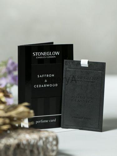 Ароматная карточка (визитка) Шафран и кедровое дерево Stoneglow Современная Классика