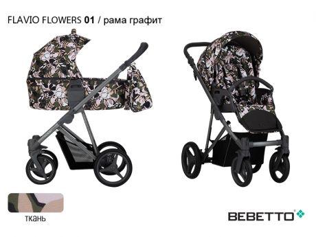 Коляска 2 в 1 Bebetto Flavio FLOWERS