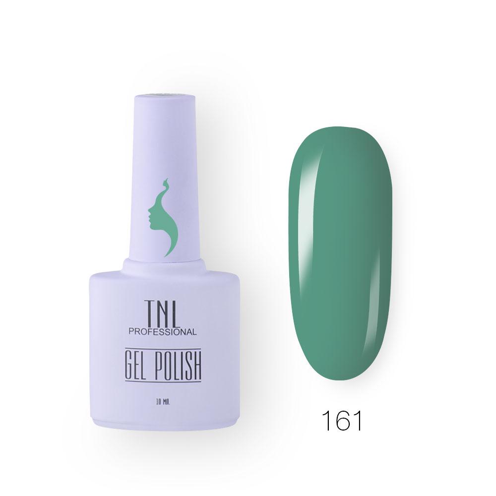 Гель-лак TNL 8 Чувств №161 - колумбийский зеленый (10 мл.)
