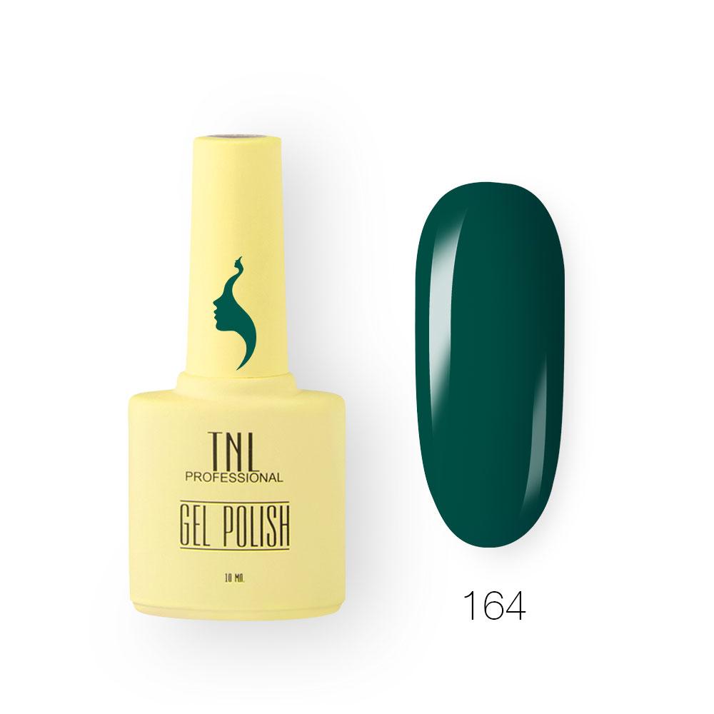 Гель-лак TNL 8 Чувств №164 - насыщенно-зеленый (10 мл.)