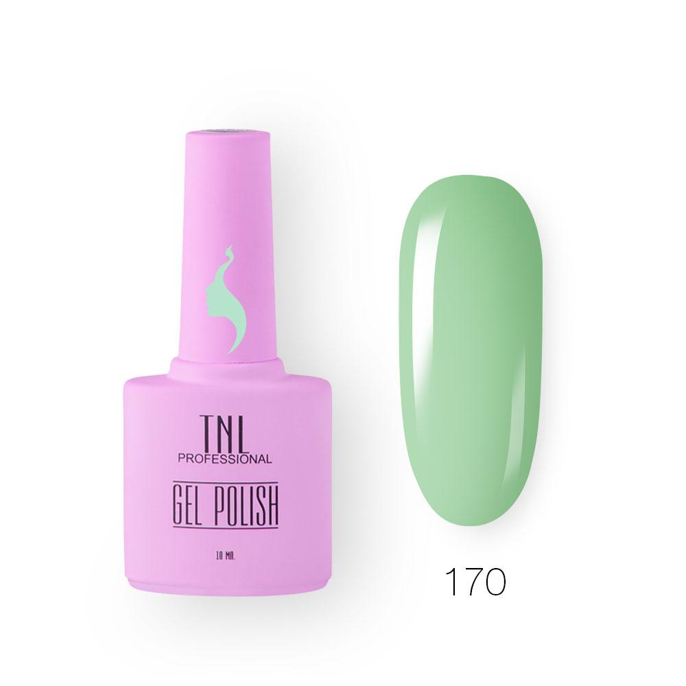 Гель-лак TNL 8 Чувств №170 - светло-зеленый (10 мл.)
