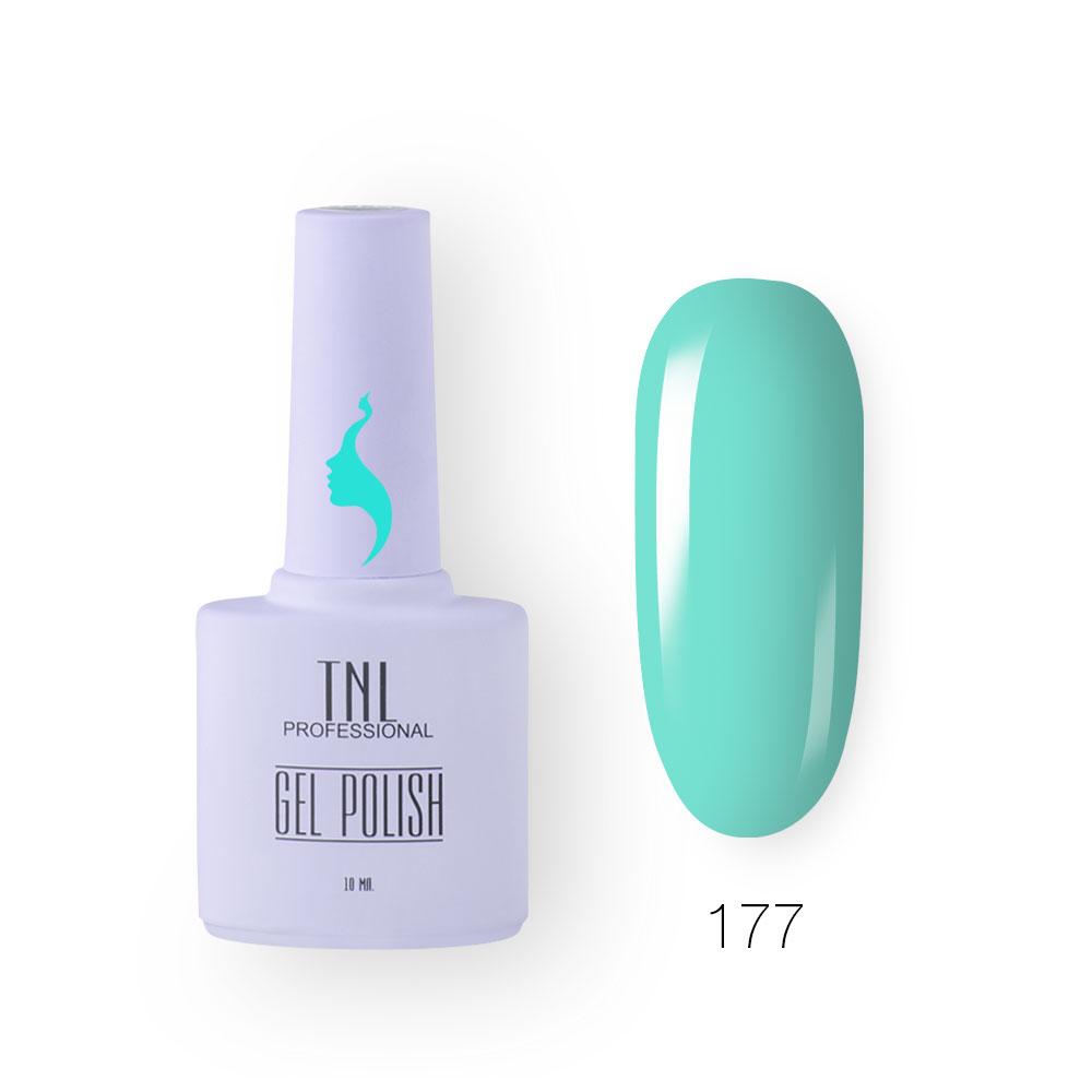 Гель-лак TNL 8 Чувств №177 - голубая лагуна (10 мл.)