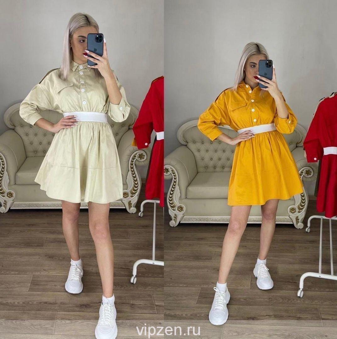 Стильные платья с резинкой W.a.n.g.