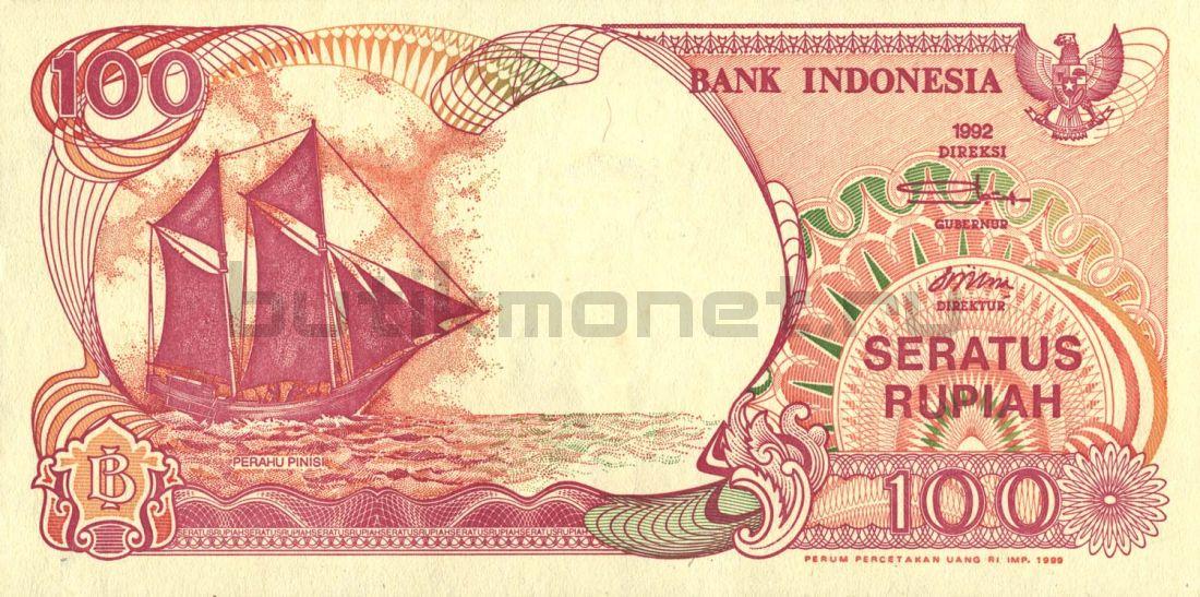 100 рупий 1992 Индонезия