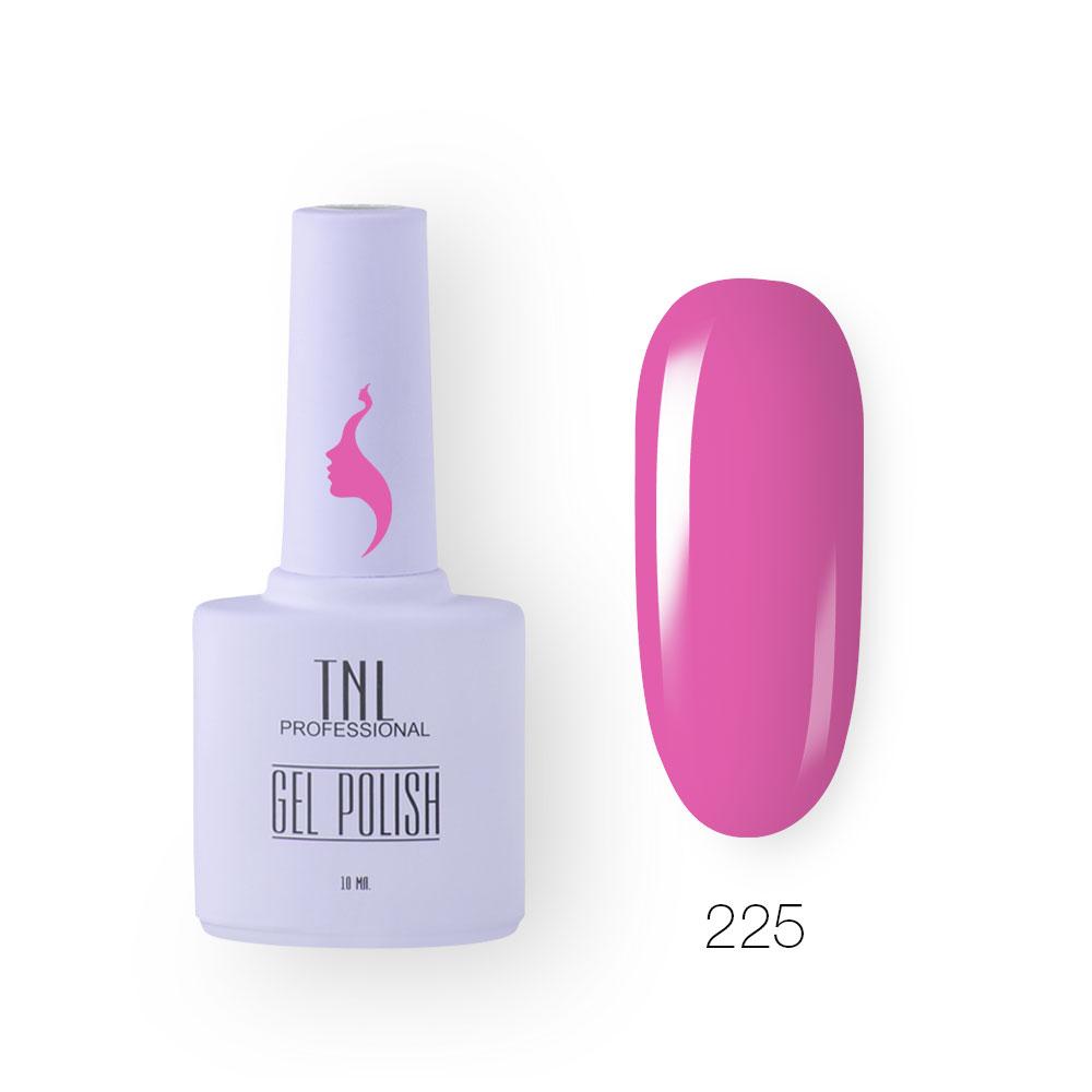Гель-лак TNL 8 Чувств №225 - розовый флокс (10 мл.)