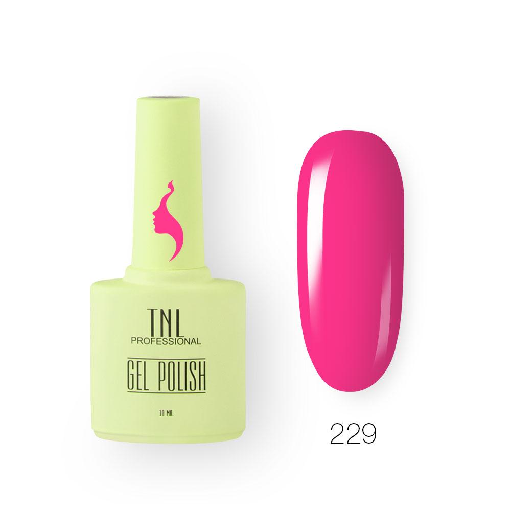 Гель-лак TNL 8 Чувств №229 - розовая камелия (10 мл.)