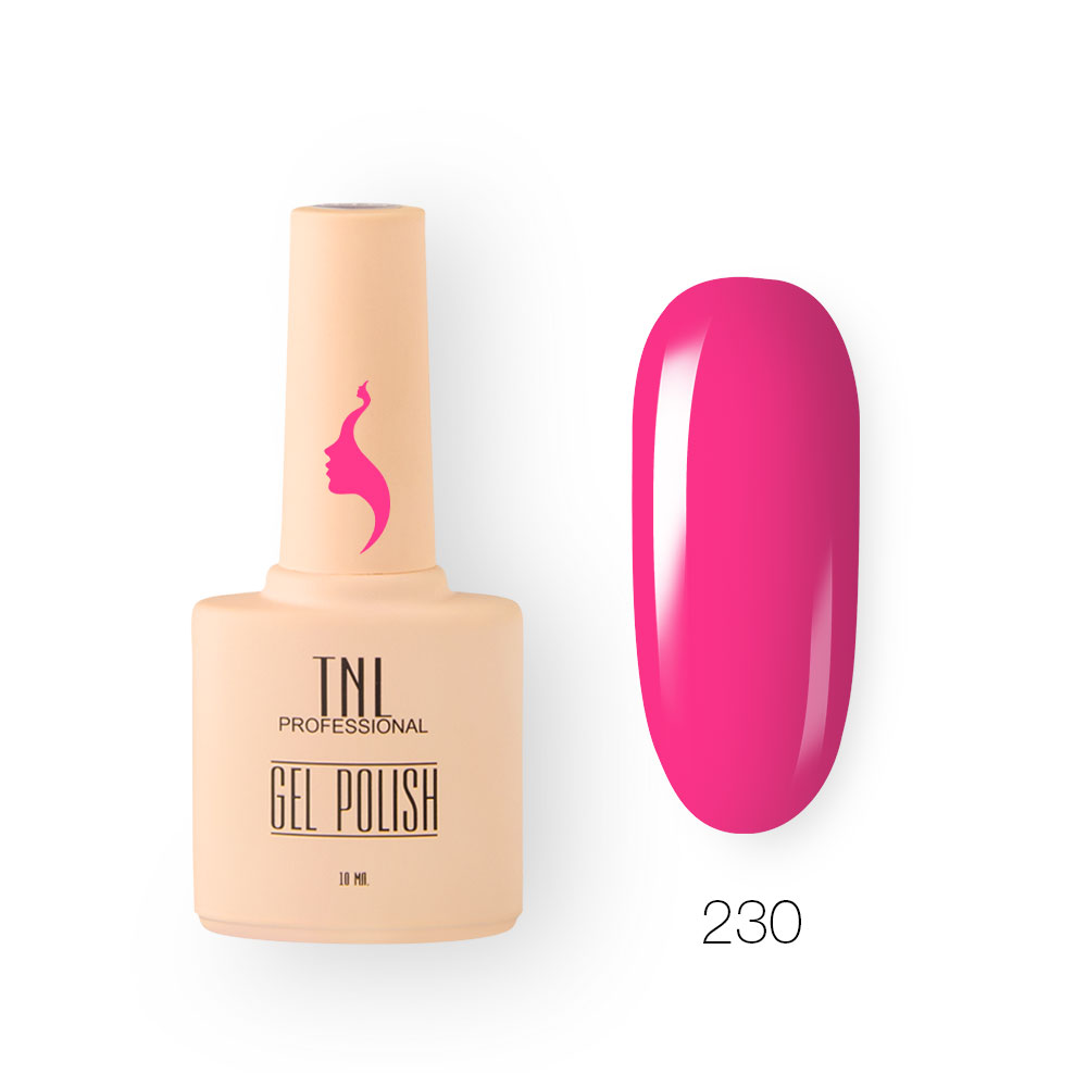 Гель-лак TNL 8 Чувств №230 - розовая фуксия (10 мл.)