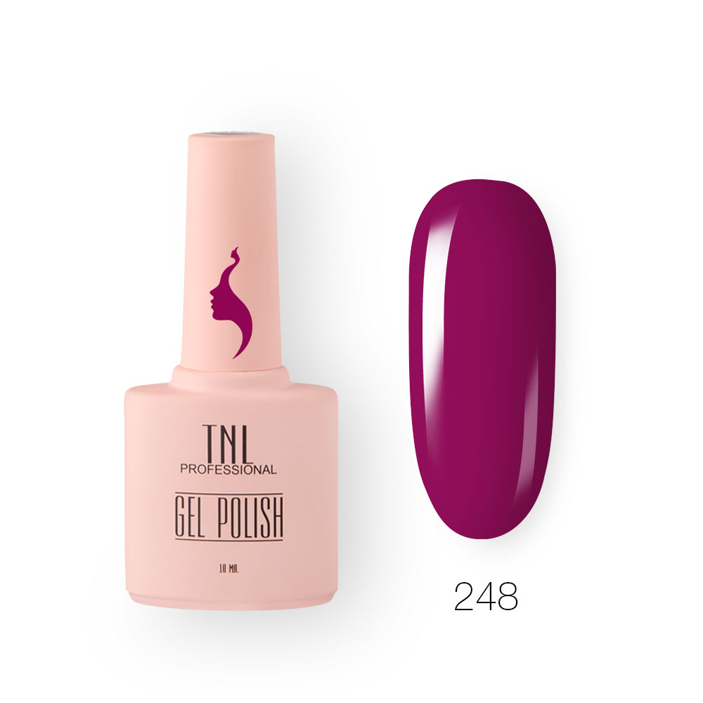 Гель-лак TNL 8 Чувств №248 - розовое вино (10 мл.)