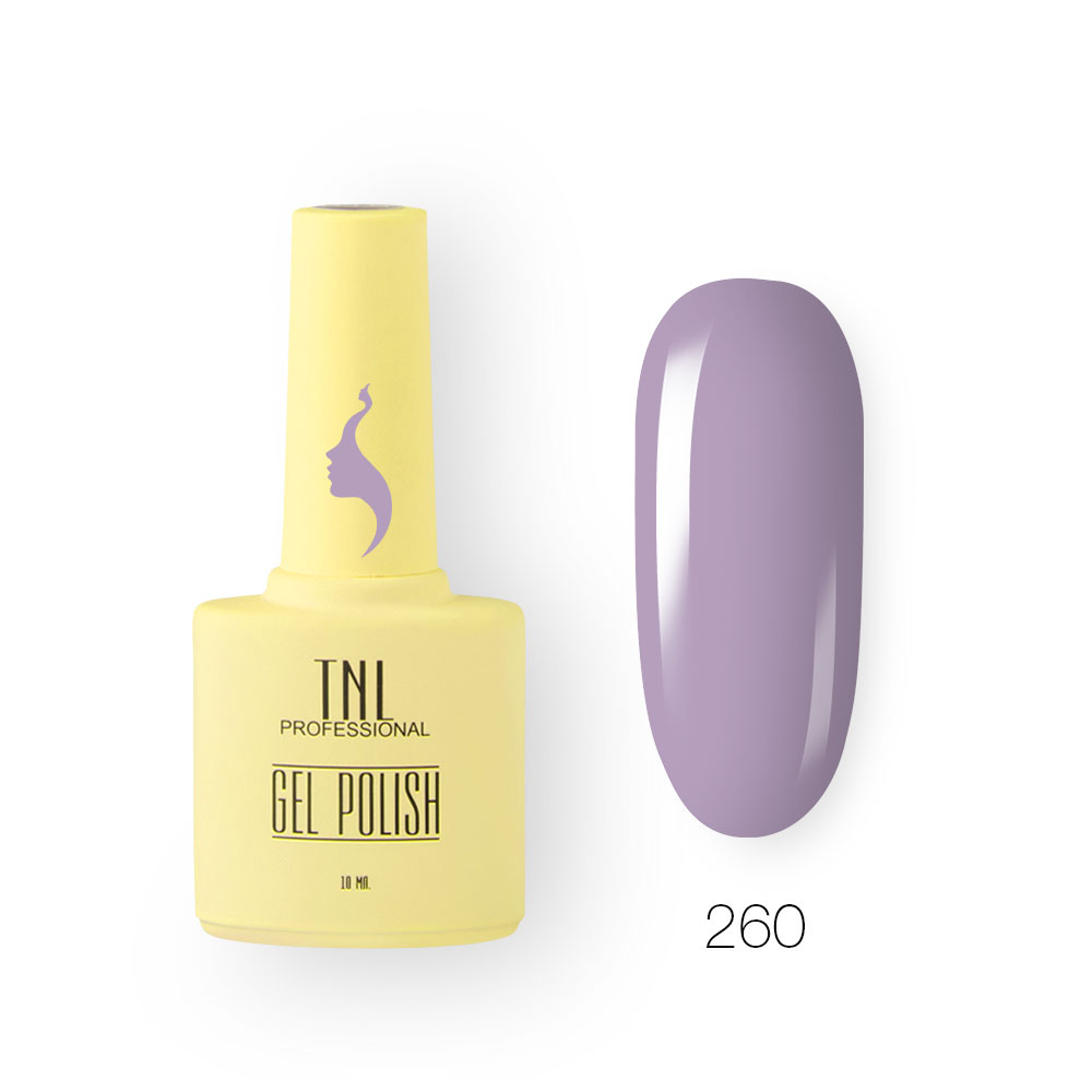 Гель-лак TNL 8 Чувств №260 - фиолетовый рассвет (10 мл.)
