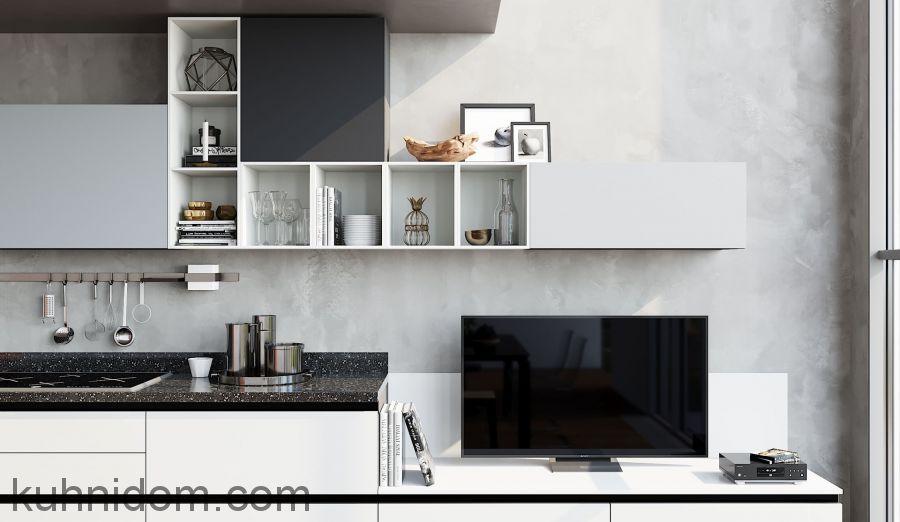 Кухня Kristali (Кристали) с открытыми полками