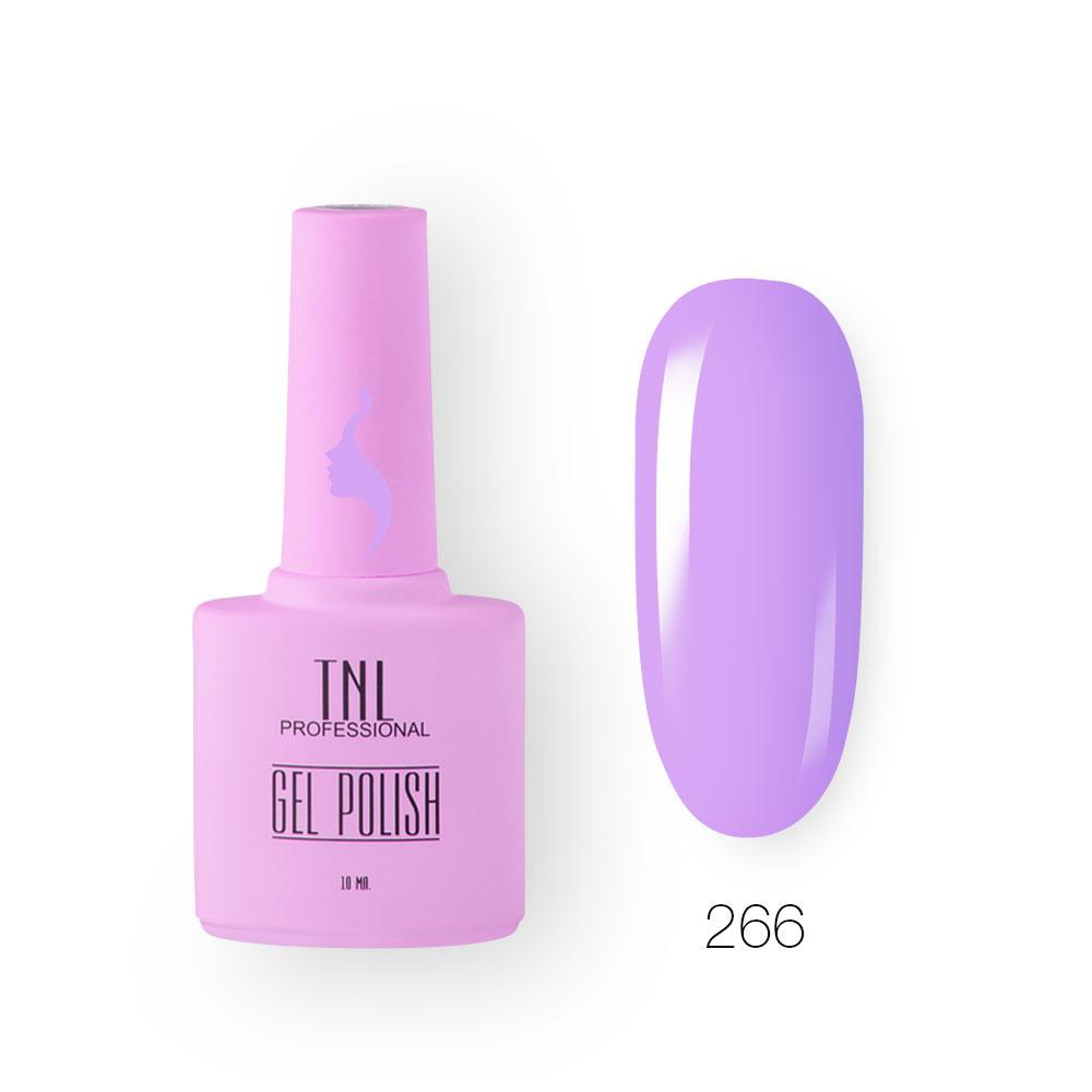 Гель-лак TNL 8 Чувств №266 - фиолетовый тюльпан (10 мл.)