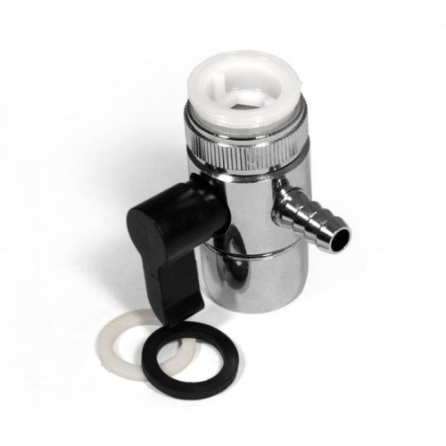 Переходник на кран с переключателем, D 7,8 мм, под шланг 5-7 мм