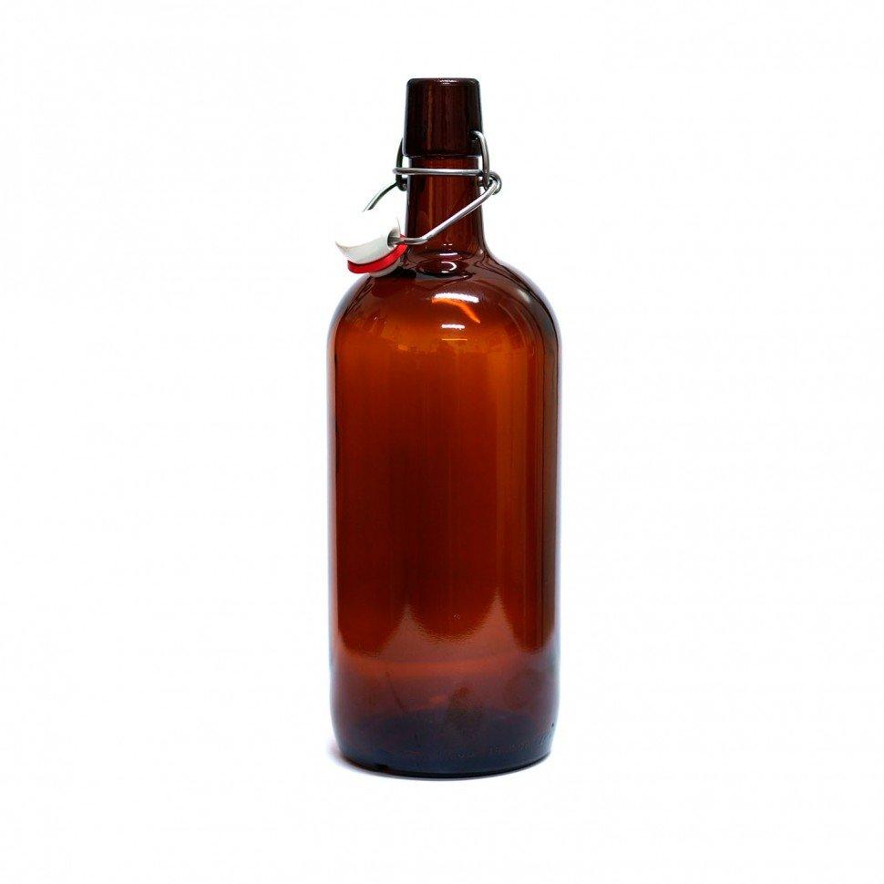 Бутылка Бомба, 1 л. (темная, с бугельной пробкой), 1 шт